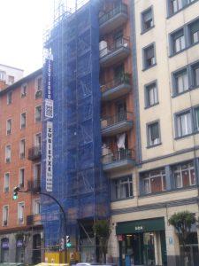 Obra de fachada en Bilbao, calle Gordoniz